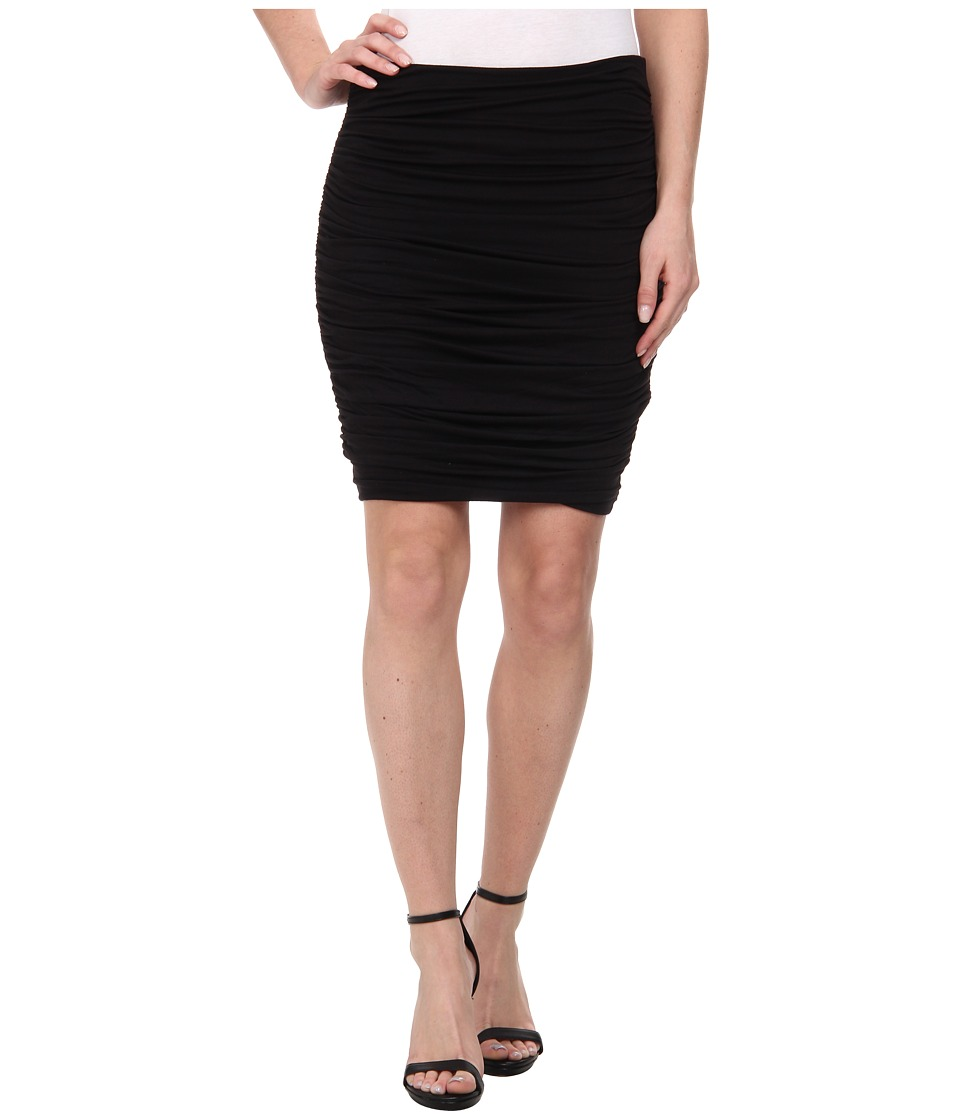Three Dots - Side Ruched Skirt (Black) Women's Skirt