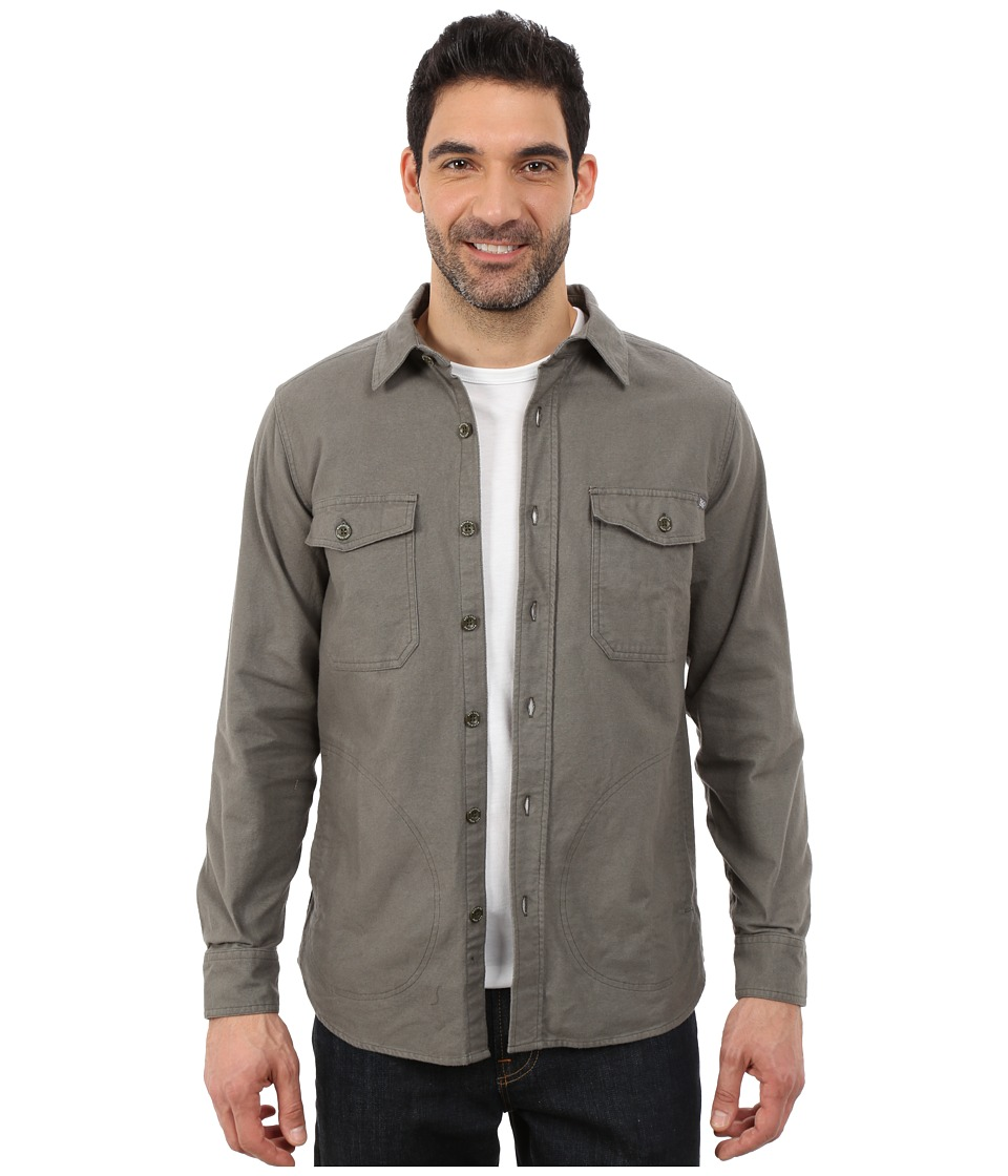 Woolrich - Tiadaghton Solid Shirt Jacket (Field Gray) Men's Coat