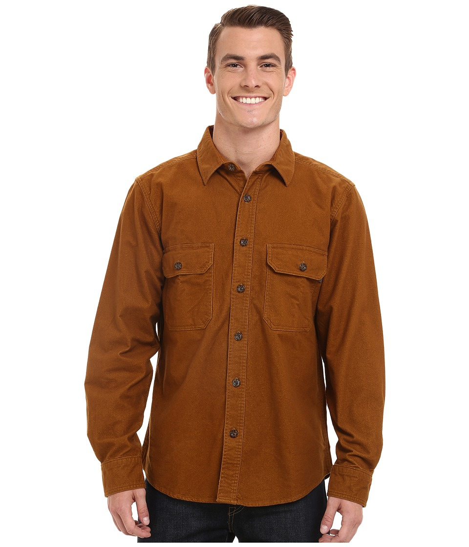 Woolrich - Expedition Chamois Shirt (Chicory) Men's Long Sleeve Button Up