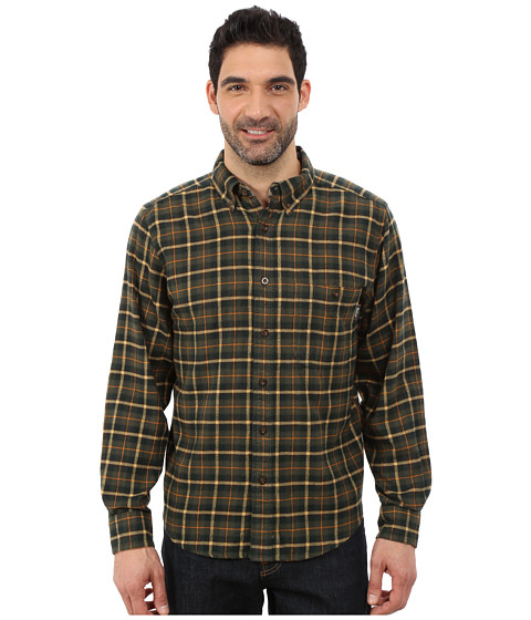 Woolrich - Trout Run Flannel Shirt (Black Forest Pine) Men's Long Sleeve Button Up