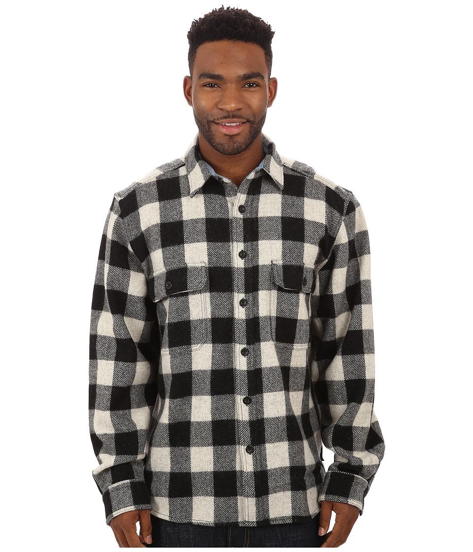 Woolrich - Wool Buffalo Shirt (Black/White) Men's Long Sleeve Button Up