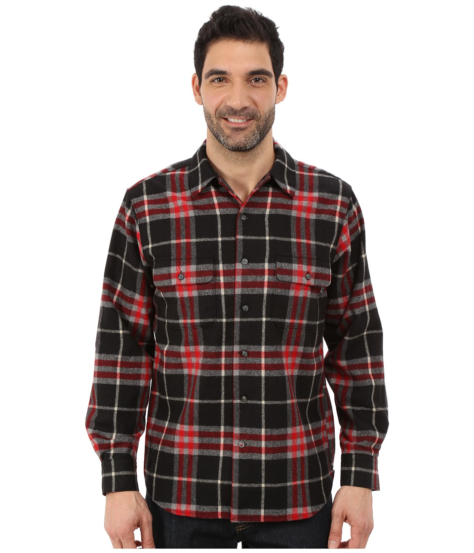 Woolrich - Bering Wool Plaid Shirt (Black) Men's Clothing
