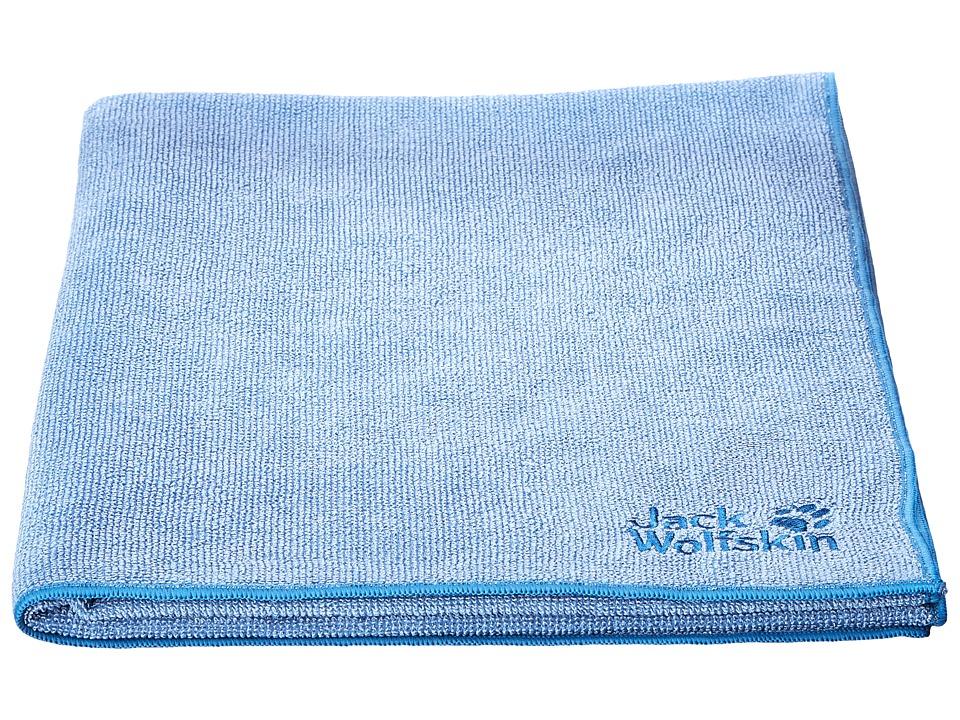 Jack Wolfskin - Wolftowel Terry L (Frost Blue) Bath Towels