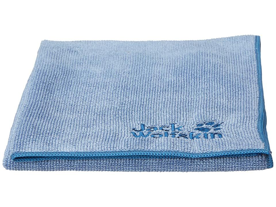 Jack Wolfskin - Wolftowel Terry (Frost Blue) Bath Towels