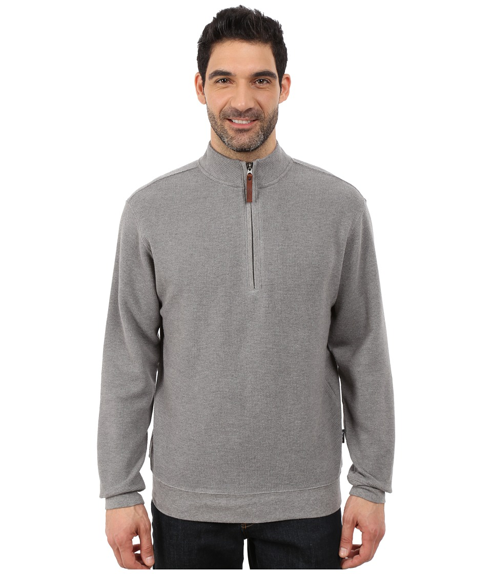 Woolrich - Bromley Half Zip (Steel Gray Heather) Men's Clothing