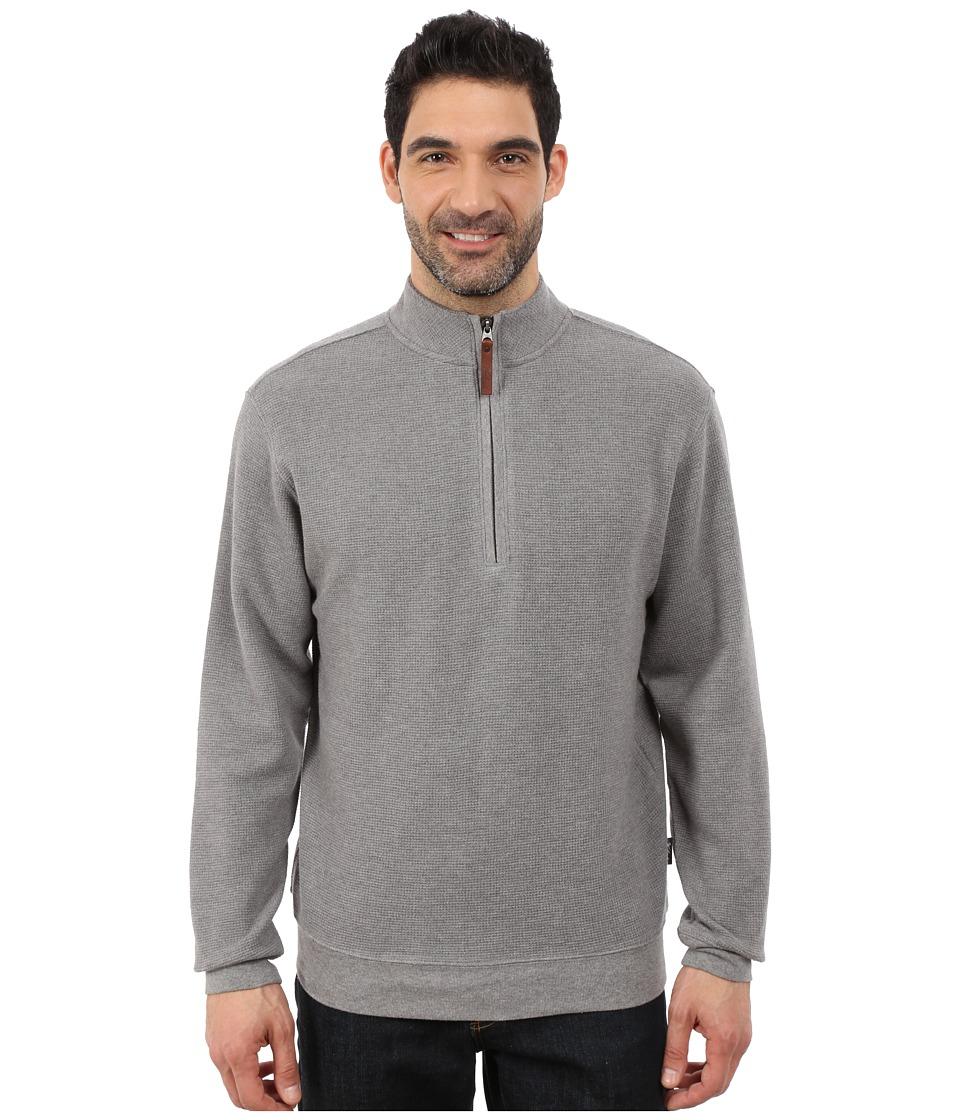 Woolrich - Bromley Half Zip (Steel Gray Heather) Men's Clothing