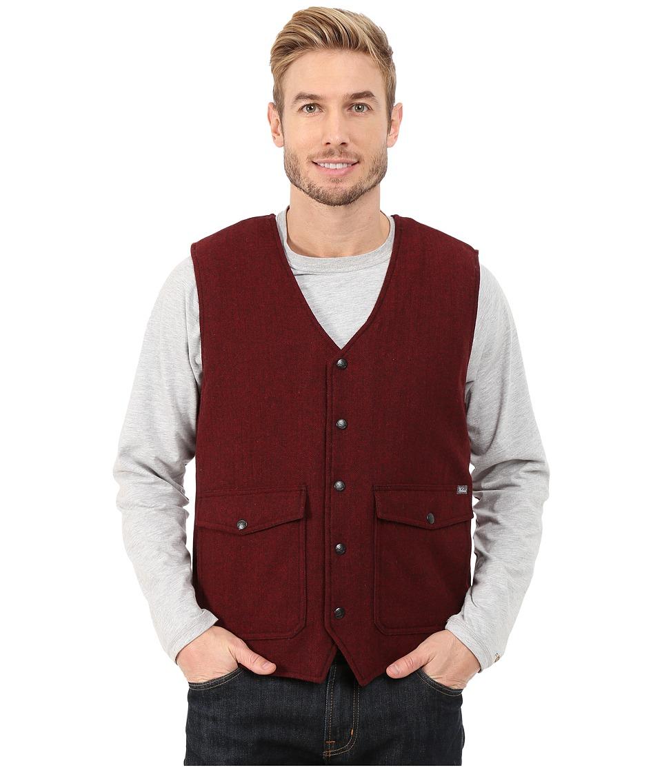 Woolrich - Teton Vest (Red/Black Herringbone) Men