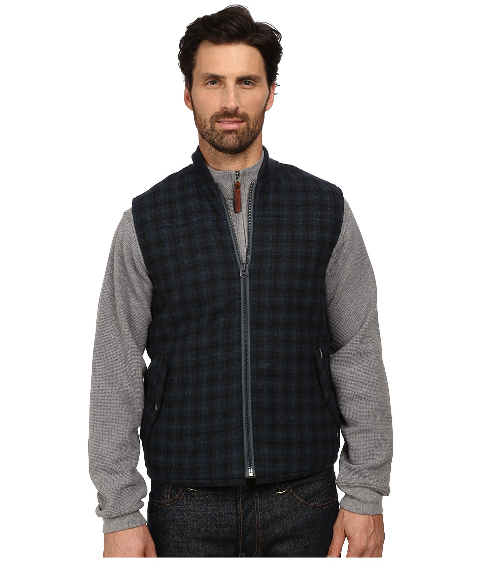 Woolrich - Bear Claw Vest (Blue Plaid) Men