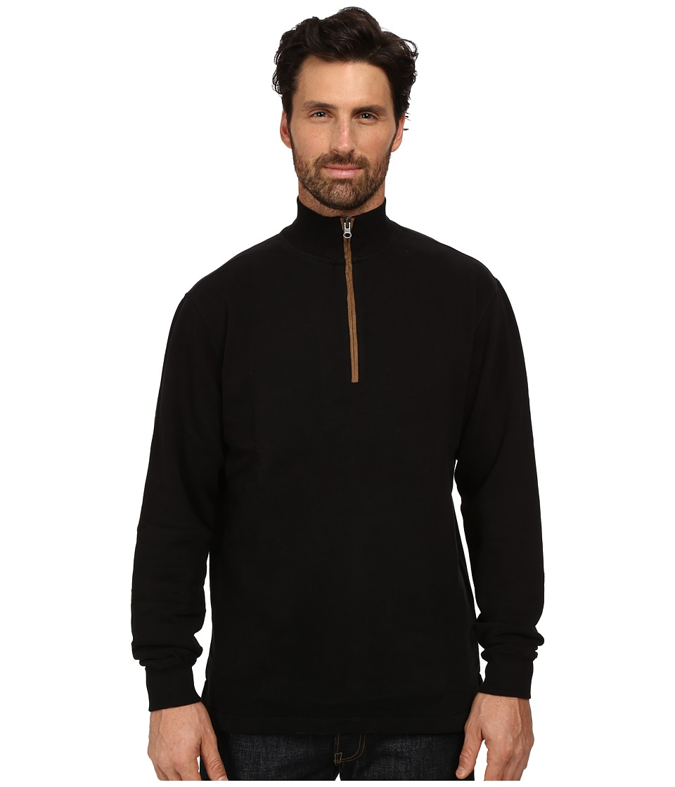 Woolrich - Boysen Half Zip (Black) Men's Clothing