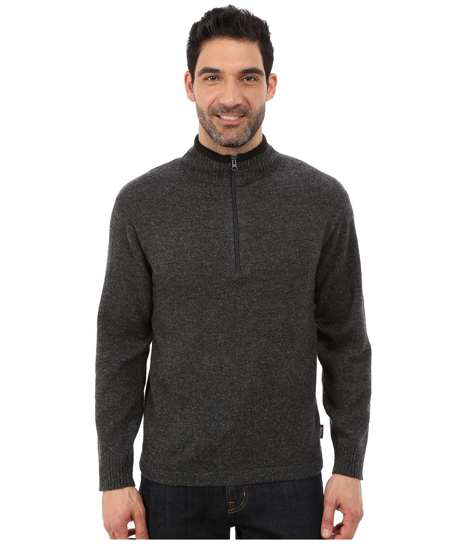 Woolrich - Granite Springs II Half Zip (Dark Charcoal Heather) Men's Clothing