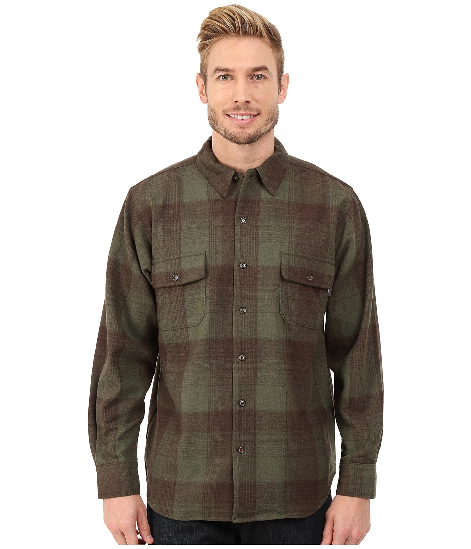 Woolrich - Bering Wool Plaid Shirt (Olive) Men's Clothing