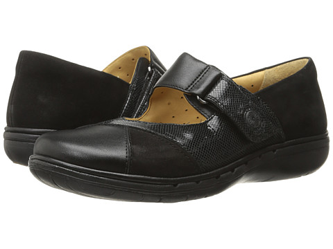 Clarks - Un Swan (Black Combination Leather) Women's Shoes