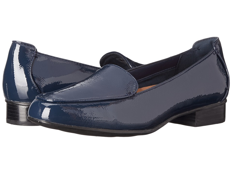 Clarks - Keesha Luca (Navy Patent Leather) Women's 1-2 inch heel Shoes