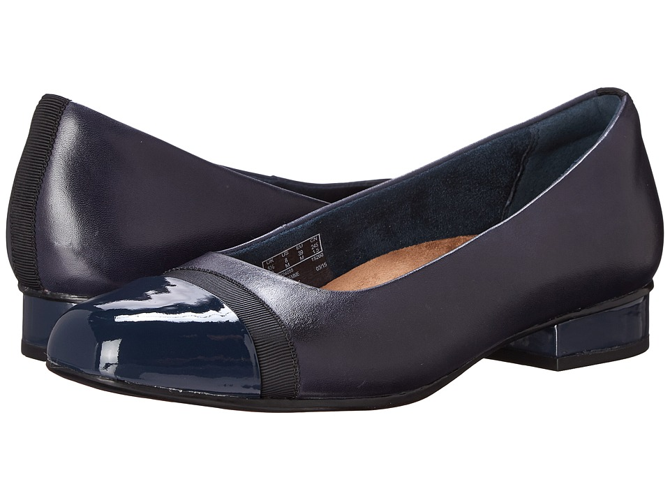 Clarks - Keesha Rosa (Navy Leather) Women's 1-2 inch heel Shoes