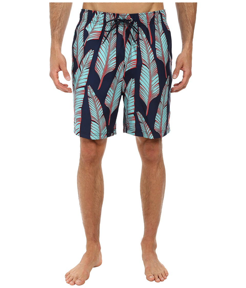Nautica - Leaves Print Trunk (Dress Blues) Men's Swimwear