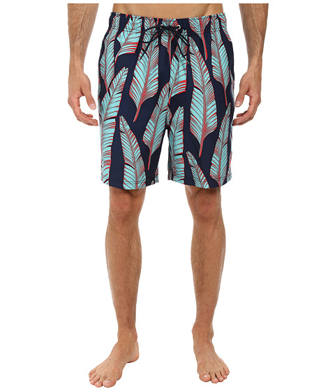 Nautica - Leaves Print Trunk (Dress Blues) Men