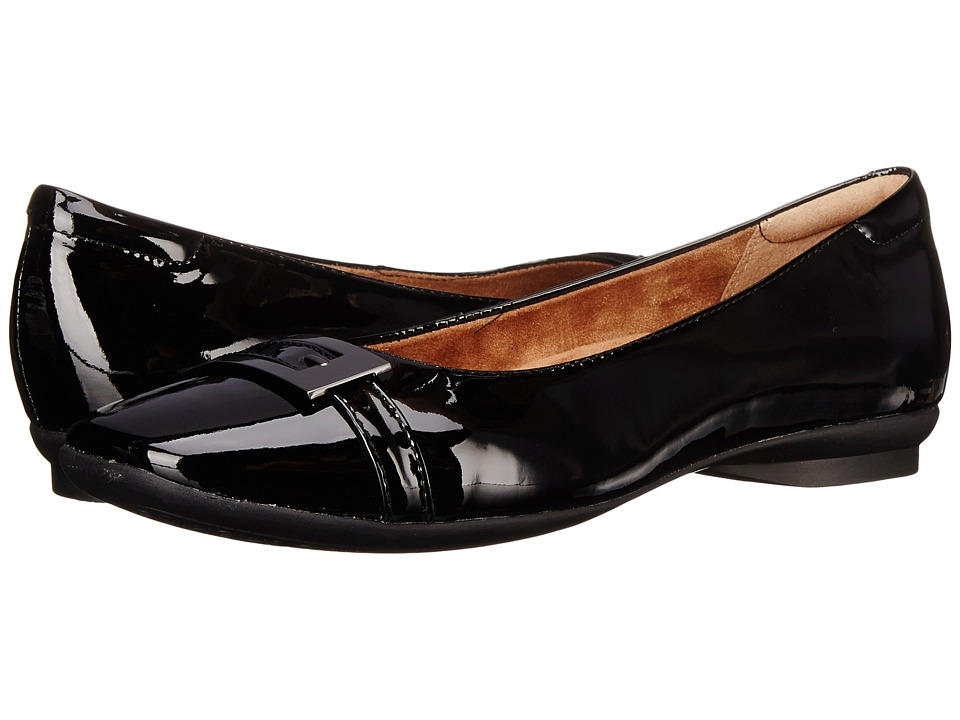 Clarks - Candra Glare (Black Patent Leather) Women's Slip-on Dress Shoes