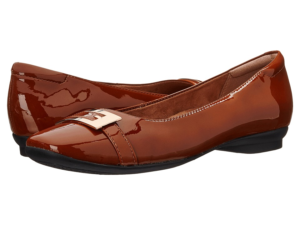 Clarks Candra Glare (Cognac Patent Leather) Women