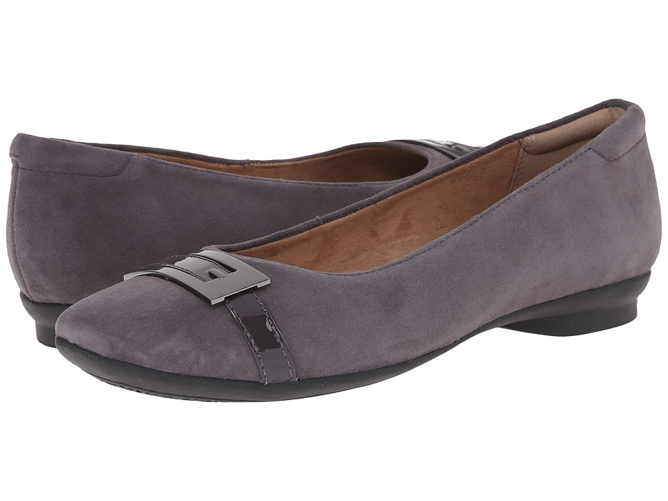 Clarks Candra Glare (Purple Grey Suede) Women