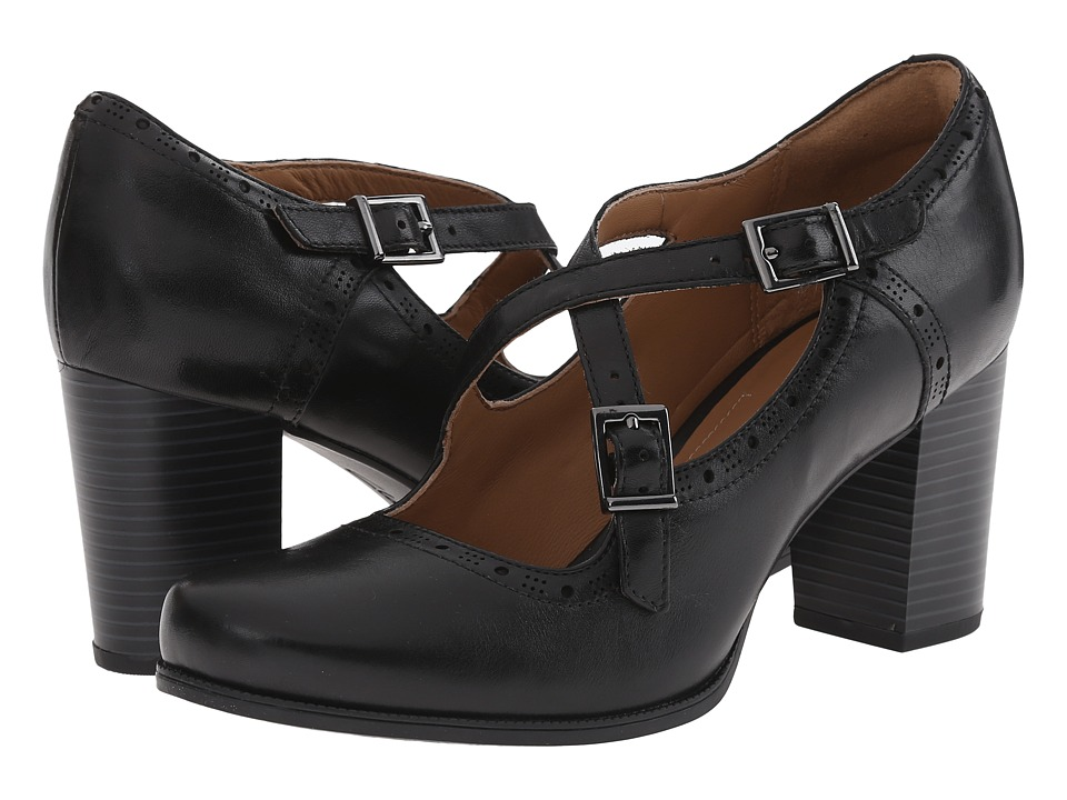 Clarks - Ciera Sea (Black Leather) High Heels