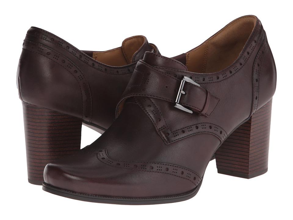 Clarks - Ciera Tide (Burgundy Leather) High Heels