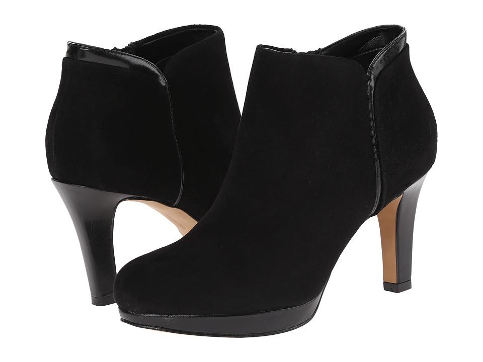 Clarks - Delsie Stella (Black Suede) Women's Boots