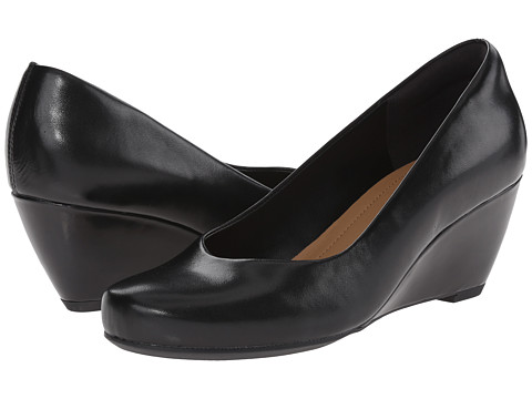 Clarks - Bassett Mine (Black Leather) Women's Shoes