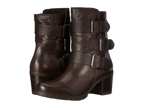 Clarks - Fernwood Lake (Dark Brown Combination Leather) Women's Boots