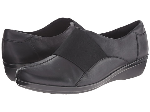 Clarks - Foxvale Spell (Black Leather) Women's Shoes