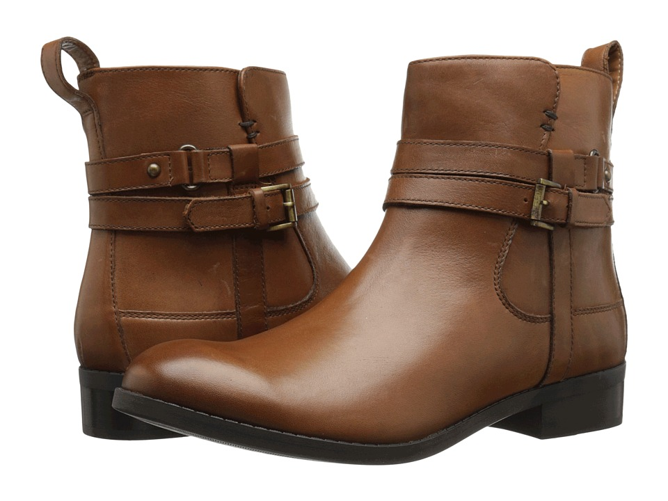 Clarks - Pita Austin (Dark Tan Leather) Women's Boots