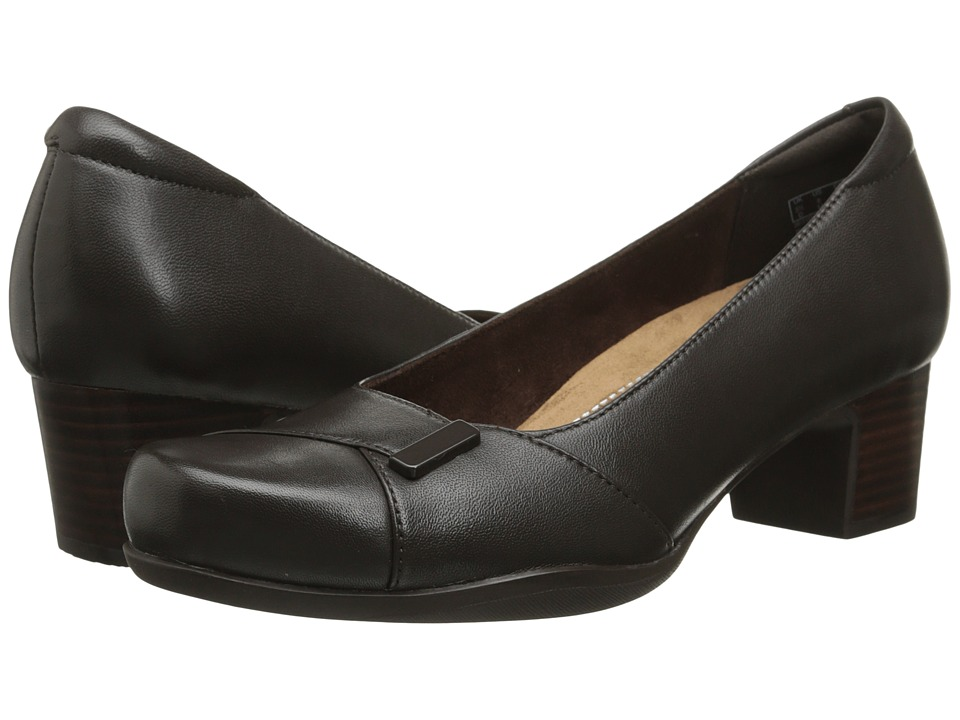 Clarks - Rosalyn Belle (Dark Brown Leather) High Heels
