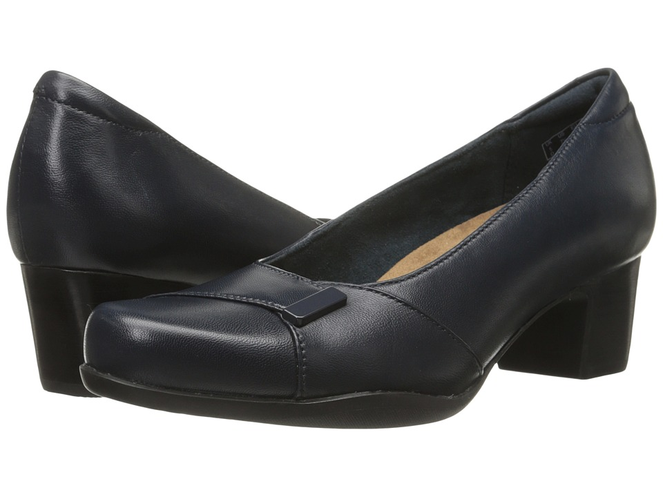Clarks - Rosalyn Belle (Navy Leather) High Heels