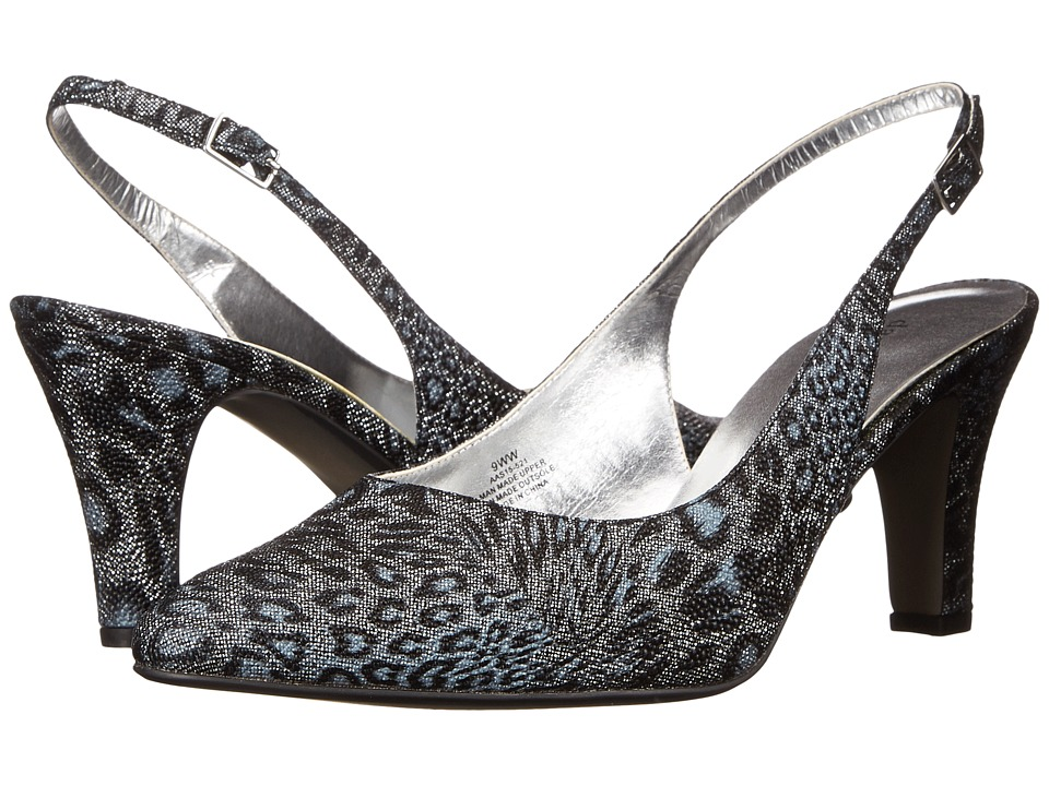 David Tate Lace (Black Leopard) High Heels