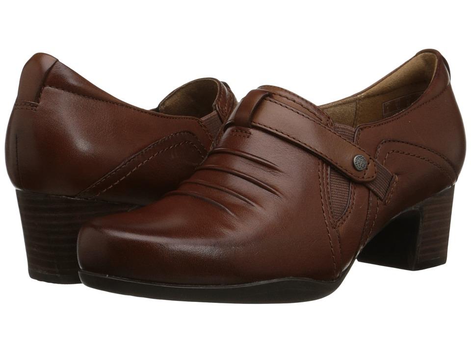 Clarks - Rosalyn Nicole (Dark Tan Leather) Women's Shoes