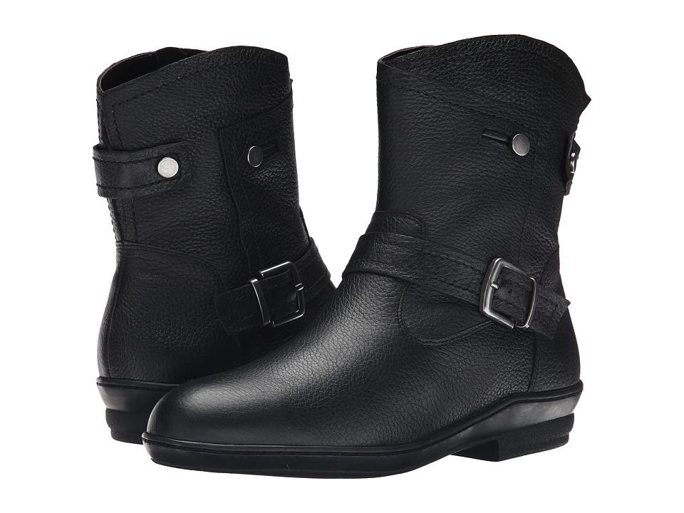 David Tate - Relax (Black Pebble Grain Calfskin) Women's Shoes