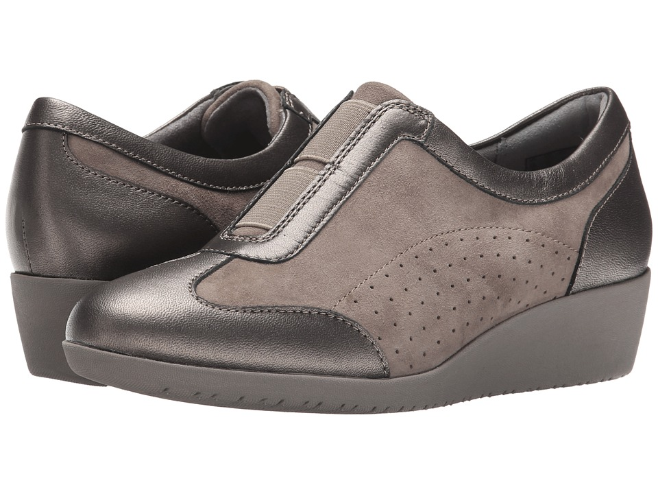 Clarks - Petula Viola (Taupe Suede) Women's Shoes