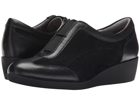 Clarks - Petula Viola (Black Suede) Women's Shoes