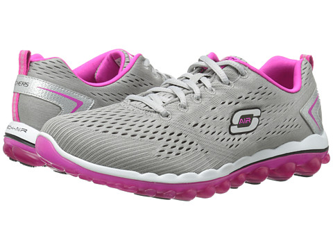 SKECHERS - Skech-Air 2.0 - Aim High (Grey/Pink) Women's Shoes