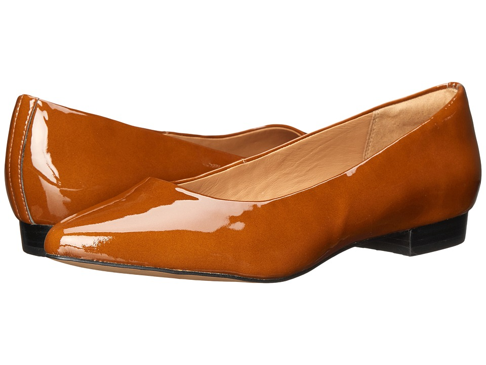 Clarks - Corabeth Abby (Cognac Patent Leather) Women's 1-2 inch heel Shoes