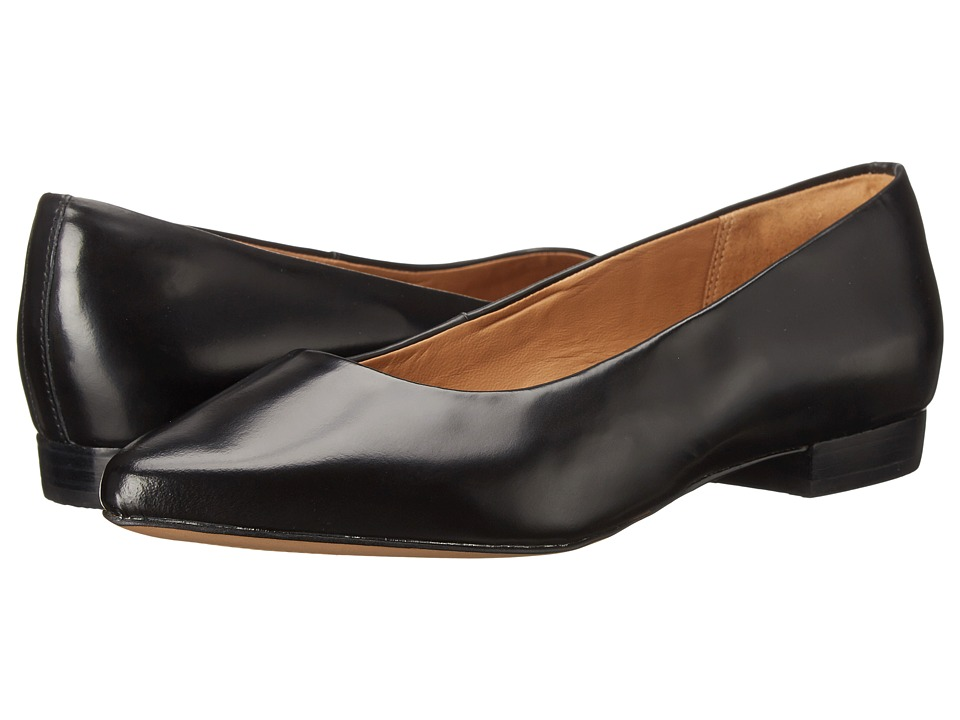 Clarks - Corabeth Abby (Black Leather) Women's 1-2 inch heel Shoes
