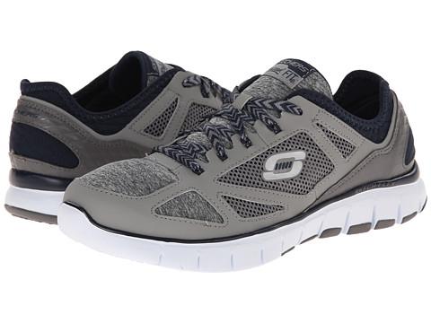 SKECHERS - Skech-Flex - Style Source (Grey/Navy) Women's Shoes