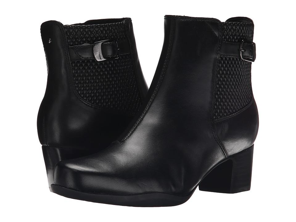 Clarks Rosalyn Lara (Black Leather) Women