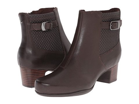 Clarks - Rosalyn Lara (Dark Brown Leather) Women's Zip Boots