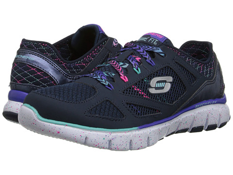 SKECHERS - Skech-Flex - Fashion Play (Navy/Multi) Women's Shoes