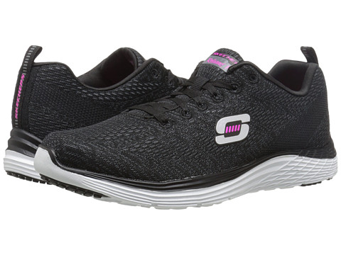 SKECHERS - Valeris (Black/White) Women's Shoes