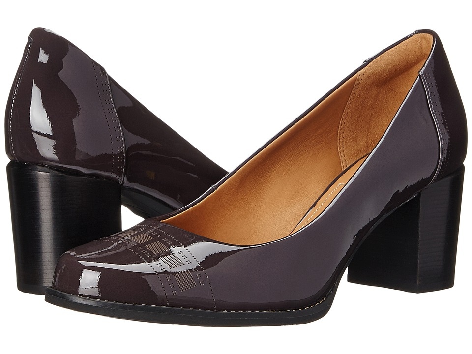 Clarks - Tarah Sofia (Purple Grey Patent) High Heels