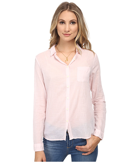 Maison Scotch - Relaxed Fit Longer Length Shirt in Seersucker Fabric (Pink) Women's Long Sleeve Button Up