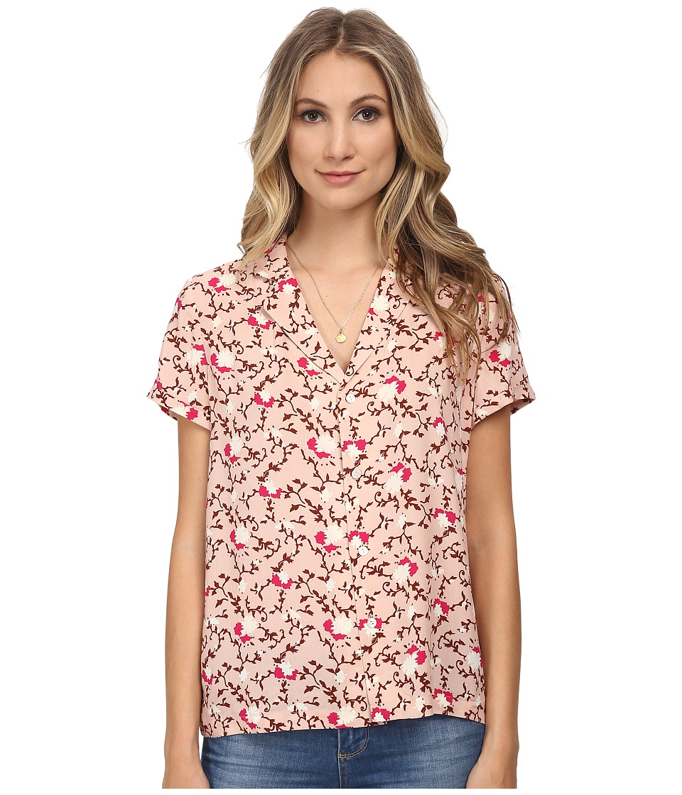 Maison Scotch - Button Up Viscose Shirt (Pink) Women's Short Sleeve Button Up