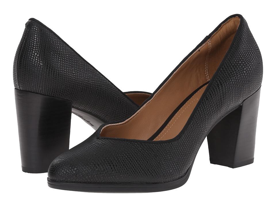 Clarks - Kadri Leah (Black Snake Leather) High Heels