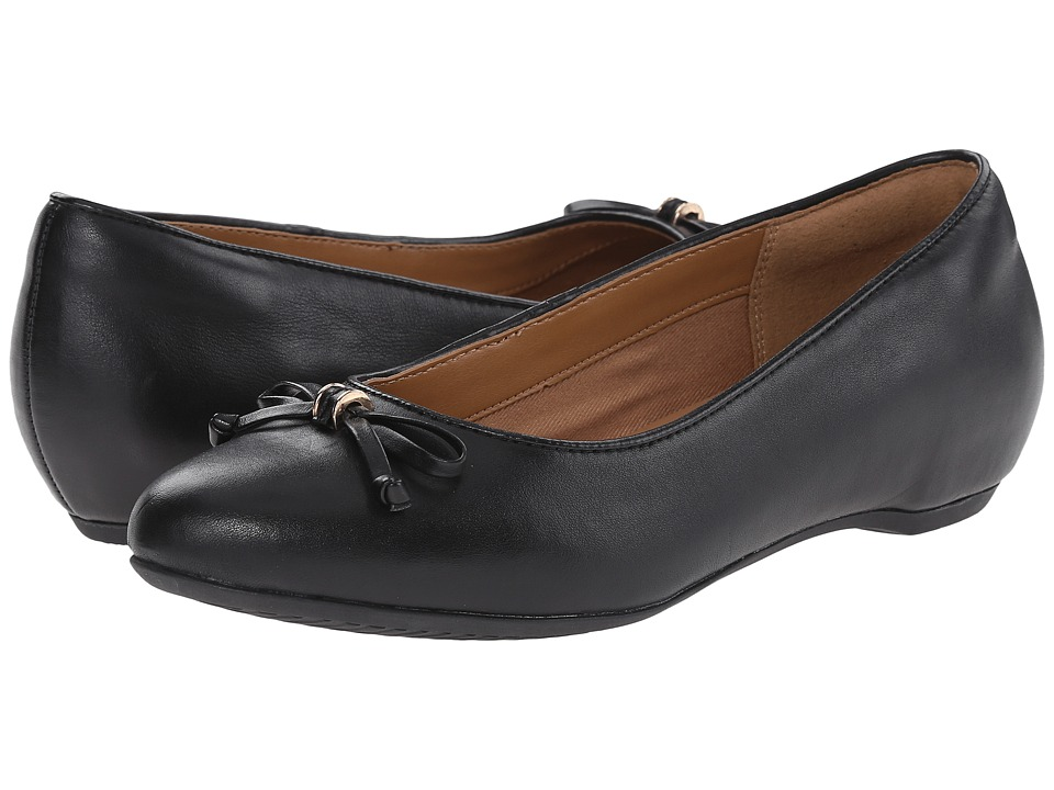 Clarks - Alitay Giana (Black Leather) Women's Slip-on Dress Shoes